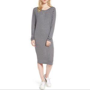 {AG Adriano Goldschmied} Striped Raglan Midi Dress